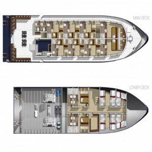 MV Bavaria liveaboard sukellussafari INTO Dive center